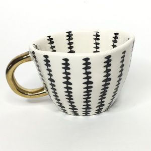 World Market Printed Geo Mug with Gold Handle